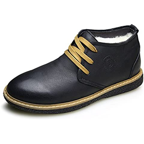 LYF KIU pattini di cuoio genuini degli uomini di inverno/ high-top scarpe di lana spessa/ scarpe invernali/Scarpe uomo casual