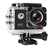 MR Services 4K Ultra HD Water Resistant Sports Action Camera Ultra Wide-Angle Lens with 2 Inch Display & Full Accessories (16MP, Black)