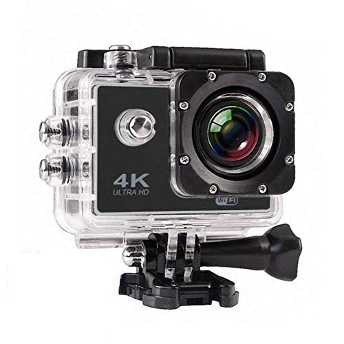 MOBILZA 4K Ultra HD Water Resistant Sports Action Camera Ultra Wide-Angle Lens with 2 Inch Display & Full Accessories (16 MP)