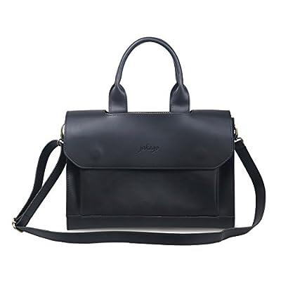 Jakago unisex Porte-bagages rétro en cuir Sac à main pour homme Sac à main Messenger Bag pour 11 12 13 Ordinateur portable 14 pouces et Macbook Air Pro 11/12/13 pouces