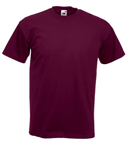 Fruit of the Loom Herren T-Shirt Super Premium Tee Burgundy