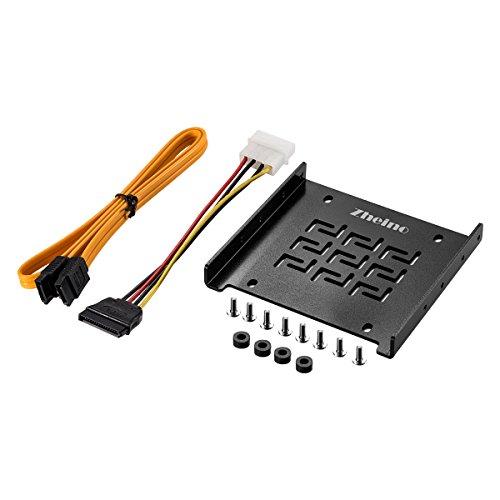 """Zheino Kit di Montaggio cornice per 2.5"""" HDD / SSD da 3.5"""" mobile rack staffa supporto caddy adattatore guide di montaggio Cavo SATA 3 Incluso"""