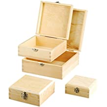 efco 1432660scatole in legno, 19x 19x 8,5cm, marrone