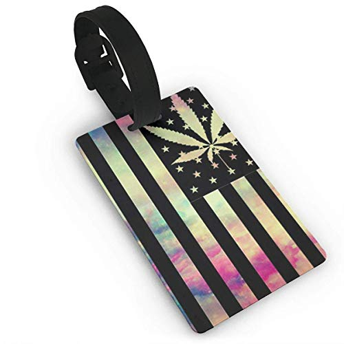 Black Flag Maple Leaf Duffle Bag Tag Luggage Tag Suitcases Label