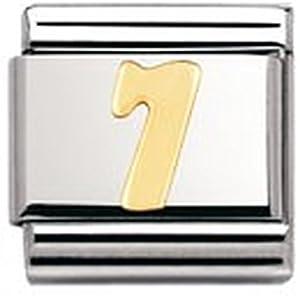 Nomination Composable Classic ZAHLEN Edelstahl und 18K-Gold (7) 030102
