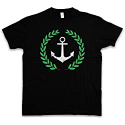 Anchor and Wreath T-Shirt – Ancla guirnalda Pablo TV Series Anker UND Kranz Escobar Narcos Tamaños S – 5XL