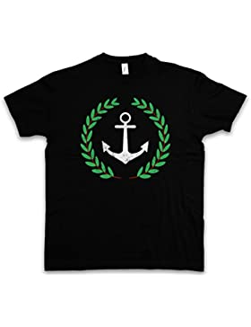 Urban Backwoods Anchor and Wreath T-Shirt – Ancora Corona Pablo TV Series Anker Und Kranz Escobar Narcos Taglie...