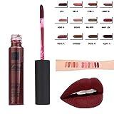LCLrute Nicht Labial glair 1 Set 12 Farbe lang anhaltende feuchtigkeitsspendende und Antihaft-Cup Lip Gloss