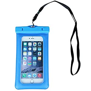 Parallel Universe iPX 8 Certified Universal Waterproof Mobile Pouch with Floaters (Compatible with Phones Upto 5 inch Screen Size) - Blue