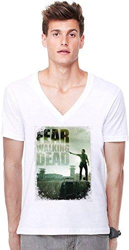 Rick Grimes Poster Tiefer V-Ausschnitt T-Shirt -
