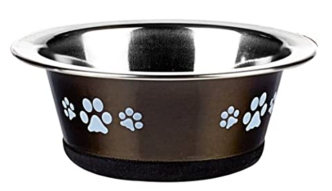 Classic Pet Products Classic Posh Paws Cat Dish, 240 ml, Graphite