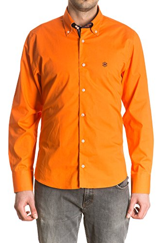 di-prego-mens-long-sleeve-orange-shirt-reversible-patterned-cuffs-with-buttons-to-adjust-the-width