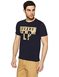 LP Jeans By Louis Philippe Men's Solid Slim Fit T-Shirt - B078HKC5SL