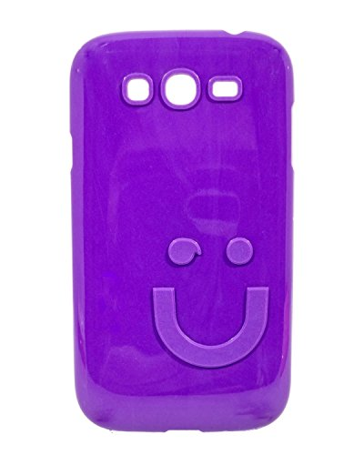 iCandy™ Imported Quality Soft TPU Smiley Back Cover For Samsung Galaxy Grand I9082 / Grand Neo I9060 - Purple  available at amazon for Rs.109