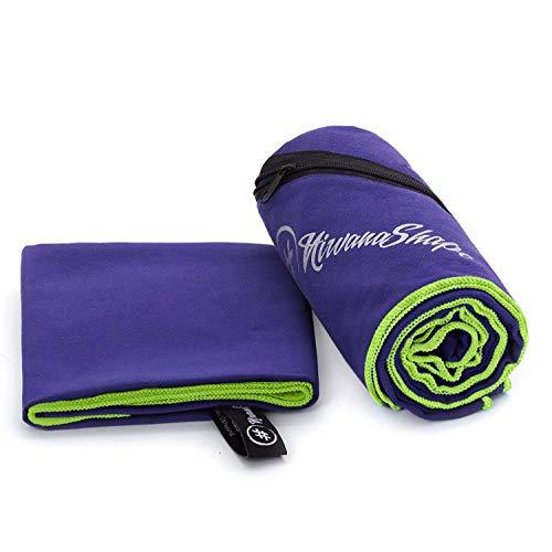 NirvanaShape 2er-Set Premium Mikrofaser Handtücher | saugfähig, leicht, schnelltrocknend | Badehandtücher, Reisehandtücher, Sporthandtücher | Ideal für Reisen, Fitness, Yoga, Sauna