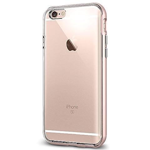 Coque iPhone 6s, Spigen® Coque iPhone 6 / 6s Neo Hybrid EX ] PREMIUM BUMPER [Rose Gold] TPU Claire / Le Cadre en PC Double Couche Coque mince Coque pour iPhone 6 (2014) / 6s (2015) - Rose Gold (SGP11725)