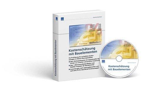 Kostenschätzung leicht gemacht, Bauelemente, CD-ROM Über 500 Bauelemente speziell für die frühe Planungsphase - Einfache und schnelle Kostenermittlung mit Auswertungen nach DIN 276 - Größtmögliche Kostensicherheit durch realistische Preis bereits bei der