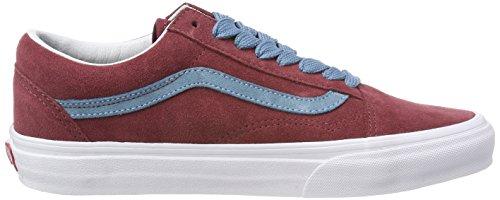 Vans Old Skool, Scarpe Running Unisex-Adulto Rosso (Oversized Lace)