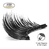 House of Quirk Magnetic False Eyelashes, 4 Pieces 3D Reusable Fake Eyelash Extension