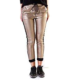 f0af2fb328fe Wholefashion Damen Hose Chino Skinny Boyfriend Push Up Gloss  Paillettenstreifen