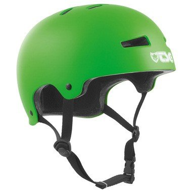 TSG Helm Evolution Solid Color, Satin Lime Green, S/M