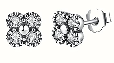 SaySure - 925 Sterling Silver Delicacy Oriental Blossom Stud Earrings