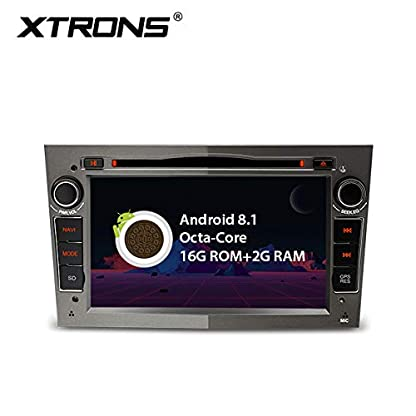 XTRONS-7-Auto-Touchscreen-Autoradio-DVD-Player-mit-Android-81-Octa-Core-Autostereo-unterstzt-4K-Video-WiFi-4G-Bluetooth50-2GB-RAM-16GB-ROM-DABOBD2-FR-OPELVauxhallHolden-Grau