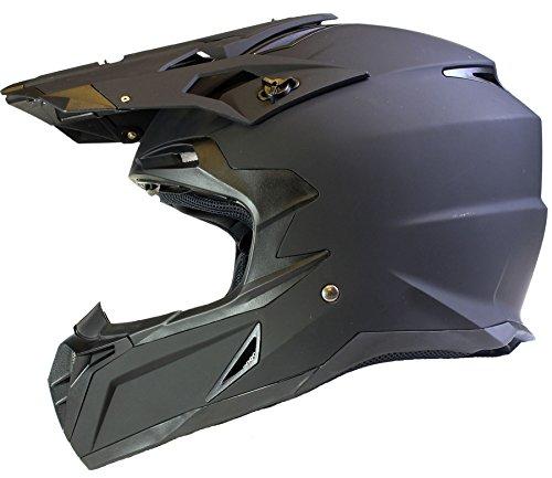 Casco de MOTOCROSS Todotorreno ECE22-05 Enduro MX ATV Motocicleta - Negro Mate - L (59-60cm)