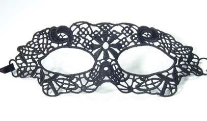 Sexy venezianische Stoffmaske zum Binden,Masquerade, schwarz, Gothic, Cosplay, Verkleidung, Kostümball, Masken Ball (Viktorianischer Maskenball Kostüme)