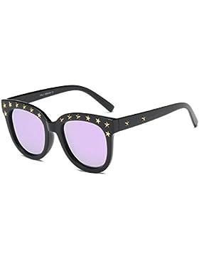 Aoligei Machos y hembras polarizados gafas de sol brillantes de color grandes estrellas las gafas de sol gafas...