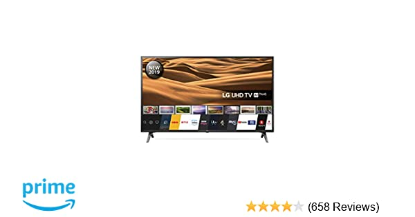 LG 49UM7100PLB 49 Inch UHD 4K HDR Smart LED TV with Freeview Play - Ceramic  Black (2019 Model)