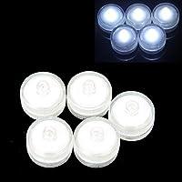 TOOGOO(R) 12 pezzi di Luce LED forma Candela rotonda impermeabile decorazione di nozze Bianco - Accenti Fumo