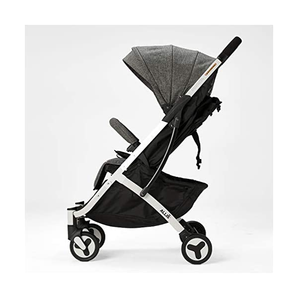 Allis Lightweight Stroller Baby Pushchair Buggy Travel Pram Plume - Grey Allis Baby Made according to British Standard EN1888 and Fire Safety Regulations 1988. Lockable 360 swivel wheels, removable and suspension, Peek A Boo window/ Recline Seat/ Lie-flat position From 6M (Upto 15Kg Approx). Lightweight 6.7Kg only, Easy to fold with one hand only 3