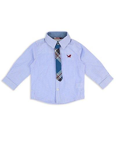 The Essential One - Bebé Infantil Niños Camisa Manga Larga Y lazo de 2 piezas Set - Azul - 12-18m - EOT429