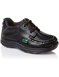 Kickers Jungen (Kleinkind) Reasan School-Schuhe mit Spitze, Schwarz