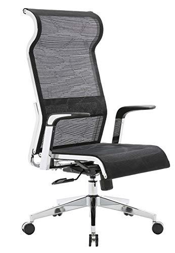 SIHOO Netz Bürostuhl Ergonomisch mit Hoher Rückenlehne, Orthopädischer Schreibtischstuhl hat Wippfunktion und Höhenverstellung, Höhenverstellung Chefsessel bis 150kg Belastbar, Muster