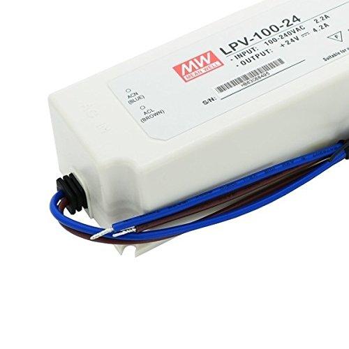MeanWell LPV-60de 100–24fuente de alimentación conmutada, 24V/4,2A/100W IP67Fuente constante