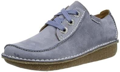 Clarks Funny Dream 203589184 Damen Sneaker, Blau (Denim Blue Lea), EU 37.5