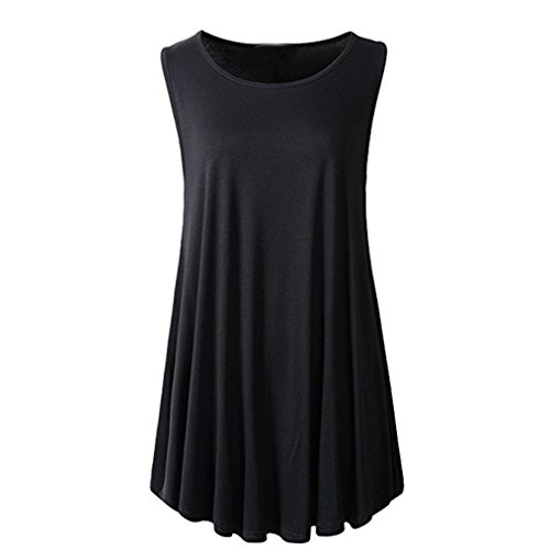 MRULIC Damen Oberteile Helle Farbe mit Knöpfe Geripptes Bluse(Z-Z-Schwarz,EU-42/CN-L) - 3 Stück Plaid-t-shirt