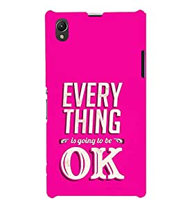Life Quote 3D Hard Polycarbonate Designer Back Case Cover for Sony Xperia Z1 :: Sony Xperia Z1 Honami :: Sony Xperia Z1 C6902/L39h :: Sony Xperia Z1 C6903 :: Sony Xperia Z1 C6906 :: Sony Xperia Z1 C6943