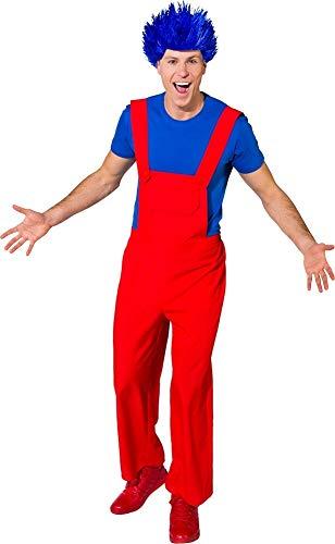 Kostüm Retro Gaming - Fancy Me Herren Clown-Latzhose Klempner Retro Gaming Circus Karneval Film Film Kostüm Kostüm Outfit