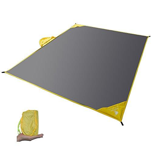 GEERTOP Schutzplane Zeltplanen Zeltunterlage 20D Leichte Wasserdicht für Zelt Wanderungen Camping Picknick - grau/180 x 210 cm (Light Ultra Zelt Person Backpacking)