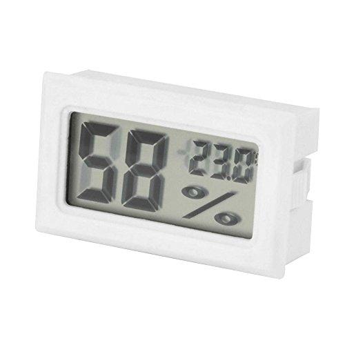 Bluelans® Mini LCD Digital Thermometer Temperatur Luftfeuchtigkeit Tester Hygrometer für Kühlschrank Aquarium (Weiß)