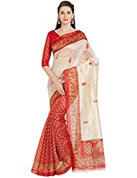 Florence Bhagalpuri Silk Dailywear Printed Saree With Blouse