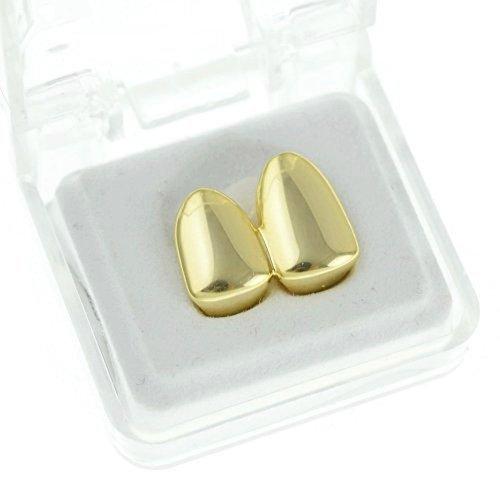 doppio-tappo-grillz-plain-canine-con-due-denti-hip-hop-denti-griglie-base-metal-colore-gold-cod-db-g