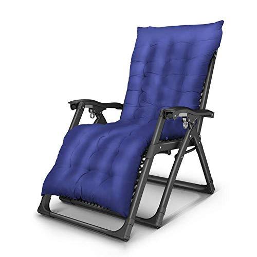 ZHANG Chaise-Sun Lounger inclinable Chaise Relax Jardin Patio extérieur Coussin épais rembourré Multi Position,C