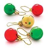 Baker Ross Kleine Christbaumkugeln für Kinder – für weihnachtliche Dekorationen (12 Stück)