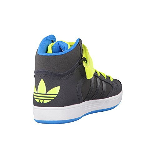 adidas Varial Mid Unisex-Kinder Sneaker Grau / Limettenfarben / Blau