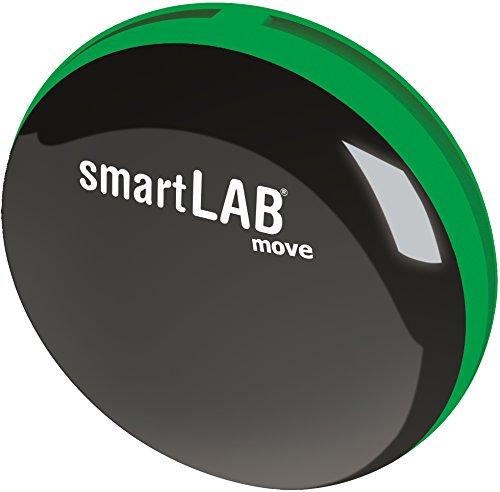 smartLAB move B 3D Schrittzähler mit Bluetooth | Aktivitätsmonitor in Grün inkl. Datenübertragung | Fitness Tracker klein, handlich, für iOS, Android, iPhone