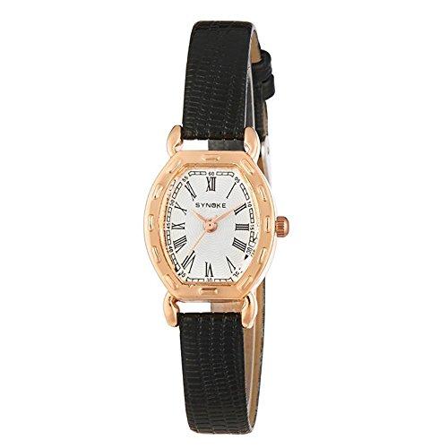 Damen Armbanduhr Frauen Berühmte weibliche Uhr Quarzuhr Quarzuhr , black - Uhr Dual Damen Face